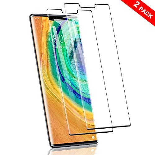SHINEZONE Panzerglas für Huawei Mate 30 Pro, (2 Stück) Vollbild-Abdeckung [9H] Härte Anti-Kratzen Schutzfolie HD Ultra Klar Blasenfrei Bildschirmschutzfolie für Huawei Mate 30 Pro
