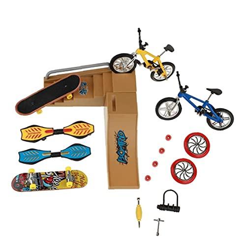 Liadance Patinetas Dedo Juguetes Set Parque del Patín Kit Mini Scooter De Bicicletas Monopatín Lugar Conjunto De Manos para Niños Entrenamiento 1 Pack