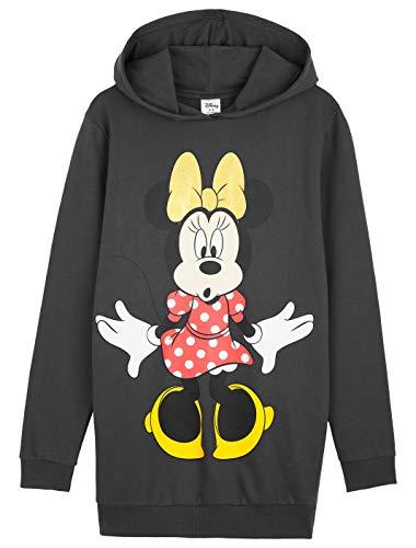 Disney Jumper Dress Minnie Mouse Hoodie Dresses para mujer, algodón sudadera con capucha vestido Minnie Oficial Merchandise, para ella