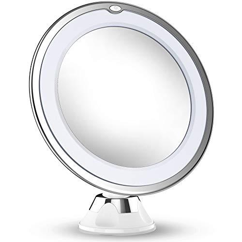 4. Vermi 10X Magnified Vanity Mirror