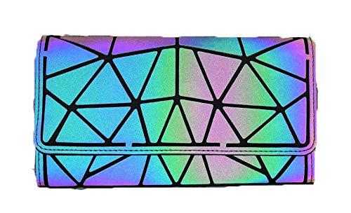 Ulalaza Geometrische leuchtende Einkaufstasche Holographische Geldbörsen und Handtaschen Flash Reflective Crossbody Bag für Frauen