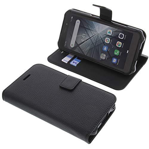 foto-kontor Tasche für Ulefone Armor X5 / Armor X5 Pro Book Style schwarz Schutz Hülle Buch