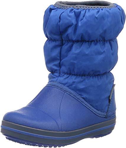 Crocs Winter Puff Boot Kids Cerulean Bleu/Gris Clair Croslite/Textil