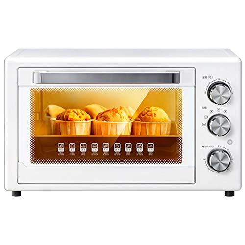 Kleiner Mini Elektro-Ofen 32L, Edelstahl 100-230 ℃ Weite Temperaturzeit 60 Minuten, Ist Der Beste Helfer in Der Küche...