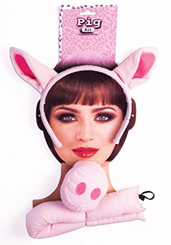 Forum Novelties Party Supplies Ears, Nose and Tail Set, One Size, Pink Pig