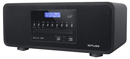Muse M-785 digitale radio met CD-speler en Bluetooth (DAB, DAB+, FM, RDS, USB, AUX) 60 Watt muziekvermogen