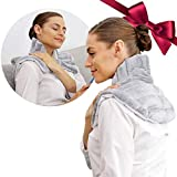 Heating Pad Solutions - Neck Buddy Plus - Lavender Heating Pads for Neck and Shoulders | Natural Microwavable Hot Packs for Pain | Reusable Neck Pain Relief Devices with Soothing Lavender Aromatherapy