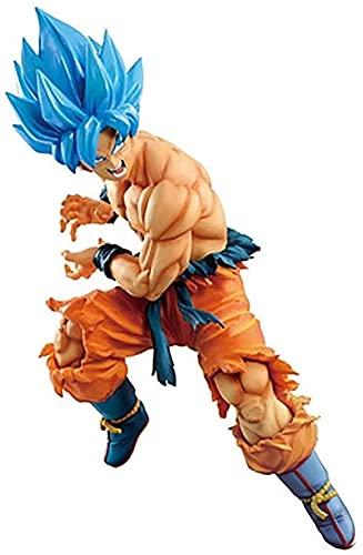XIAOGING Blue Hair Goku Blue Hair Vegeta Modelo Figura Muñeca Decoración (Color: B) (Color: B)-UN