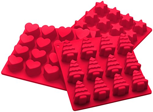 StarPack Premium Silicone Christmas Candy Molds (3 Pack) High Heat Resistant to 600