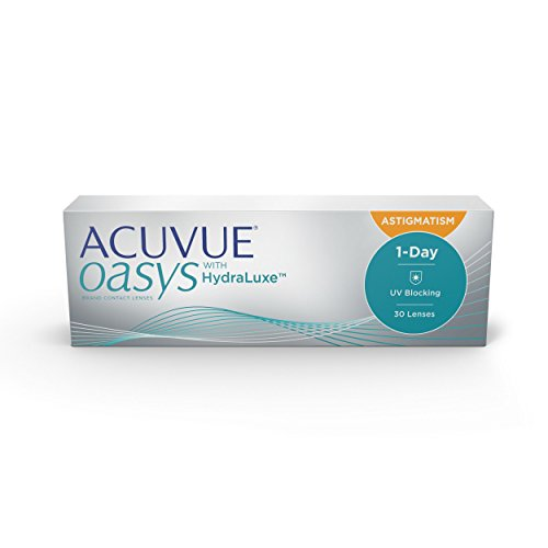 Acuvue Oasys 1-Day for Astigmatism Tageslinsen weich, 30 Stück / BC 8.5 mm / DIA 14.3 / CYL -1.25 / Achse 180 / + 3.5 Dioptrien