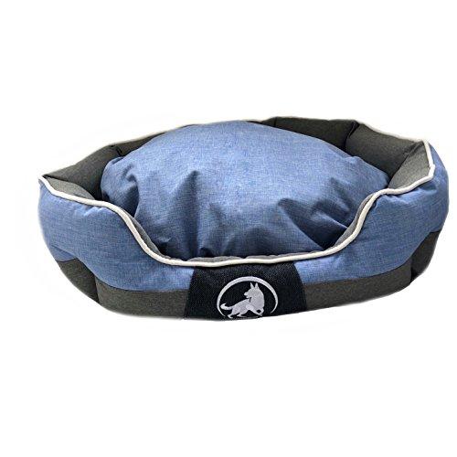 Aquagart Premium hondenbed wasbaar middelgrote honden I hondenmand middelgrote honden robuust I hondenkussen middelgrote honden slipvast I grootte L 75 x 60 x 25cm I blauw