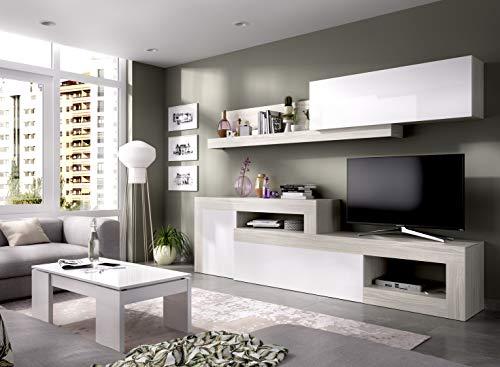 LIQUIDATODO  - Composición de salon modular 260 cm moderna y barata en gris y...