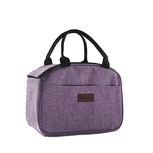 Mozing Lunch Bag Insulated Lunch Bags Reusable Lunch Box for Women Men Lunch Purse Bag Lunch Kit for Work/Outdoor/School (Purple)