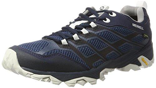 Merrell Men's Moab Fst Gtx Low Rise Hiking Boots, Blue (Navy/White), 8.5 UK (43 EU)