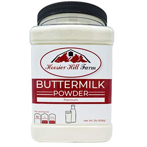 Hoosier Hill Farm Buttermilk Powder, Gluten Free & Hormone Free, Made In USA, 2 Lb