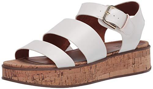 Naturalizer womens Brooke Platform Sandals White 5 M US