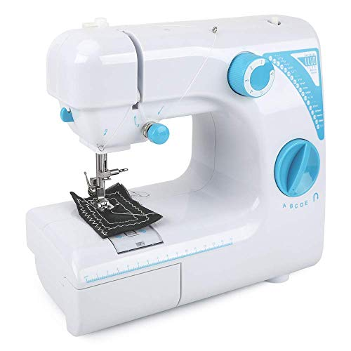 Nynelly Multifunction Portable Sewing Machine for Adult Advanced Sewer or Beginner with Foot Pedal,19 Built-in Stitches,2 Speeds Thread,Needle Threader Bobbins