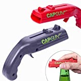 EBINGMIMA 2 Pack Creative Bottle Opener Beer Drink Bottle Cap Gun Openers Launcher Shooter for Home Bar Party Drinking Game (Red and Grey)