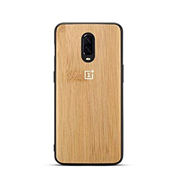 GOGODOG Compatible with OnePlus 6T Case Full Cover Ultra Thin Matte Anti Slip Scratch Resistant Carbon Fiber Fashion Creativity Anti-Fall Soft Shell for OnePlus6T  Bamboo Grain