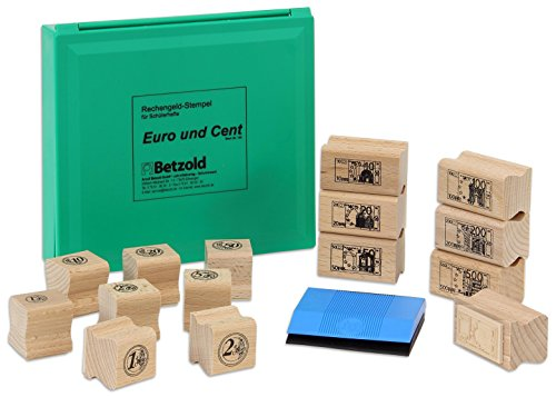 Betzold 150-15 Euro-Stempel – Banknoten- / Münzen-Stempel, mit Geld rechnen lernen, Mathe