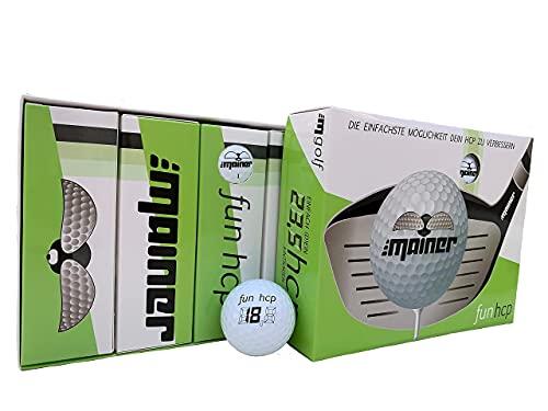 Emainer Golfball, softe Golfbälle mit maximaler Reichweite, Dieser Ball kennt Dein Handicap, 12er-Pack