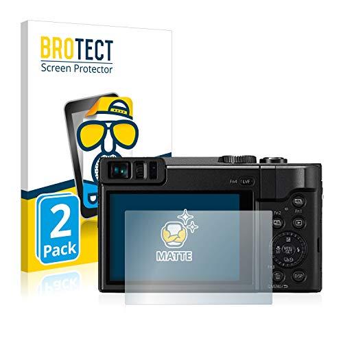 BROTECT 2X Entspiegelungs-Schutzfolie kompatibel mit Panasonic Lumix DC-TZ91 Bildschirmschutz-Folie Matt, Anti-Reflex, Anti-Fingerprint
