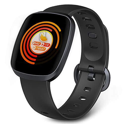 Amazqi Smart Watches, Fitness Tracker Touch Screen Smartwatch Waterproof Heart Rate Blood Pressure Sleep Monitor Pedometer Call SMS Remind Music Control for Men Women Compatible with Android IPhone