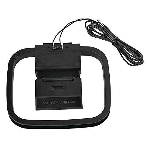 AM Loop Antena Home Receptor de señal estéreo Conector de cable de sonido interior 2pin Radios sistema de audio universal teatro a prueba de herrumbre estable FM
