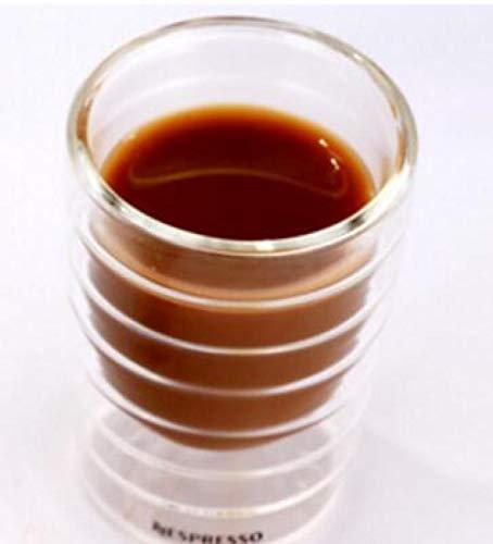 6 unids / lote Caneca soplado a mano de doble pared proteína de suero canecas taza de café expreso taza de café expreso vidrio térmico 85ml-85ml_85ml