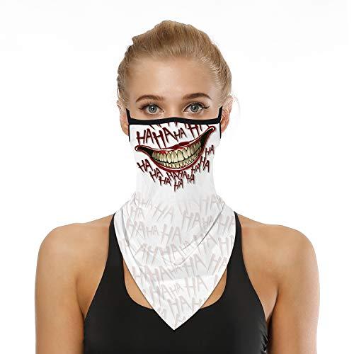 YAYOUREL Halloween C Joker Bandana Neck Gaiter Face Mask Covering...