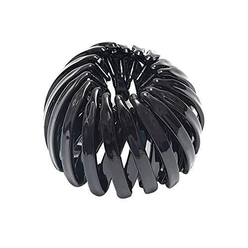 June# Erweiterbare Pferdeschwanz-Halter,Clip,Vogelnest-Form,Mode Haarspangen,Damen Vogelnest Geformte Haarspangen,Haar-Styling-Werkzeug für Damen und...