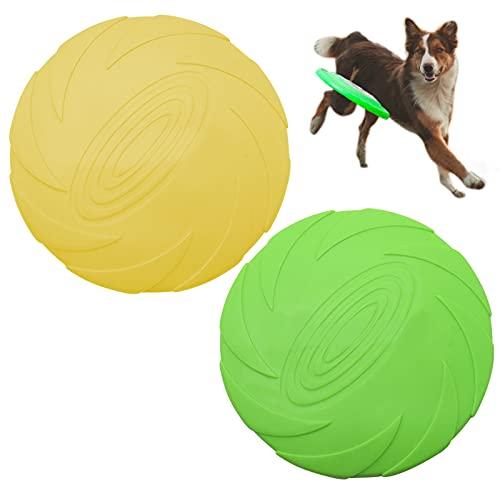 ToKinCen Hunde Frisbees,2 Stück Hund Scheibe, hundespielzeug Frisbee,Gummi Frisbee,für Land und Wasser,Hundetraining, Werfen, Fangen & Spielen