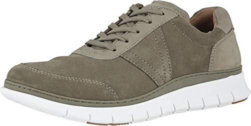 Vionic Men's Fresh Tanner Casual Everyday Sneakers - Leisure Shoes with Concealed Orthotic Arch Support Dark Taupe 11 Medium US