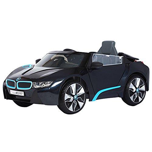 ROLLPLAY Premium Elektrofahrzeug mit Fernsteuerung und Rückwärtsgang, Für Kinder ab 3 Jahren, Bis max. 35 kg, 12-Volt-Akku, Bis zu 4 km/h, BMW i8 Concept Spyder, Schwarz