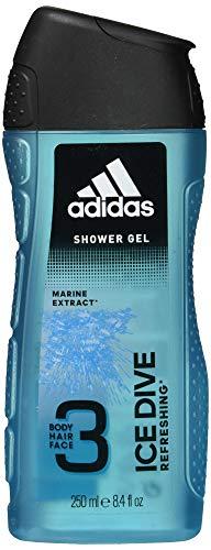 adidas Ice Dive Duschgel - mit 3-in-1 Formulierung für Gesicht, Körper und Haar & ein langanhaltendes Frischegefühl