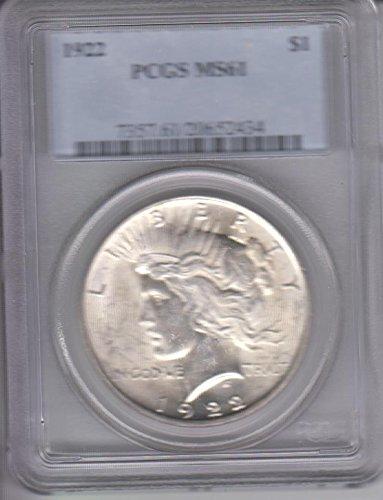 1922 Peace Dollar PCGS MS61