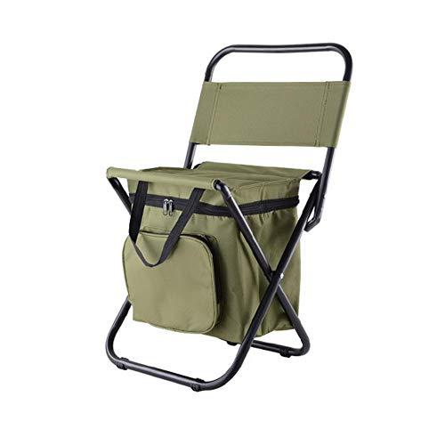 Sunneey Outdoor Klappstühle Campingstühle Angeln Rucksack Stuhl/Tragbare Camping Stuhl Hocker/Klappstuhl mit Doppelschicht Oxford Stoff Kühltasche für Angeln/Strand/Camping/Haus/Outing