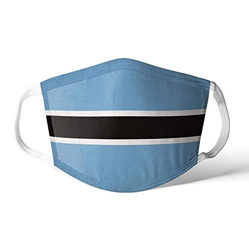 M&schutz Maske Stoffmaske Groß Afrika Flagge Botswana/Botswanan Wiederverwendbar Waschbar Weiches Baumwollgefühl Polyester Fabrik
