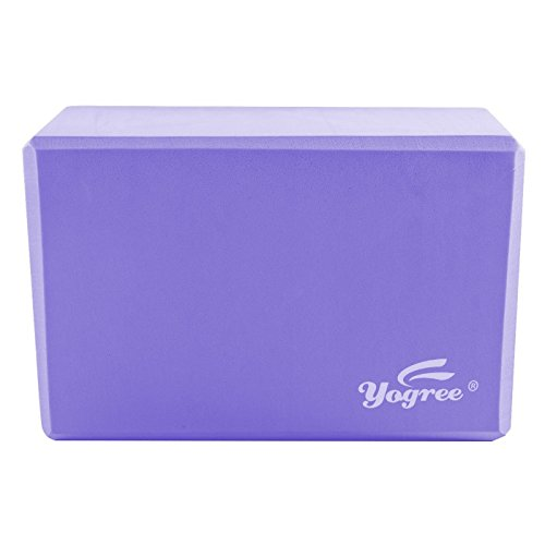 """yogree (2-PC Yoga Blocks, 9""""x6""""x4"""" - High Density EVA Foam Brick Provides Stability Balance & Support, Improve Strength and Deepen Poses - Great for Yoga, Pilates, Workout, Fitness & Gym (Grey)"""