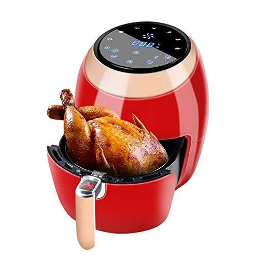 XQKQ Friteuse à air numérique, friteuse à air 7L 1500W Panier antiadhésif Amovible LED écran Tactile numérique minuterie de température réglable Saine sans Huile ou Cuisson Faible en Gras-Rouge