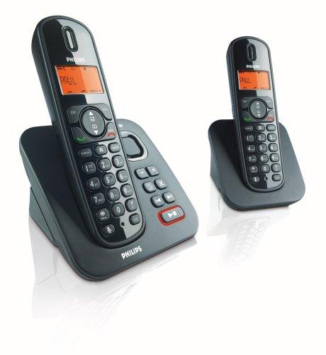Philips CD1552B/38 schnurloses DECT Telefon mit AB und 2. Mobilteil