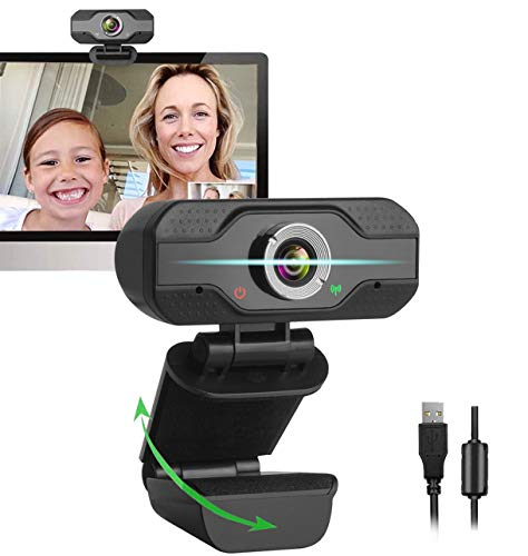 1080P Webcam with Microphone, Web Cam USB Camera, Computer HD Streaming Webcam for PC Desktop & Laptop w/Mic, Wide Angle Lens & Large Sensor for Superior Low Light…