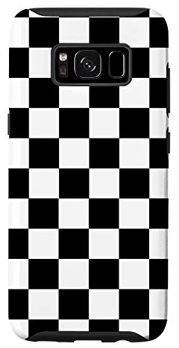 Galaxy S8 Checkered Checkerboard Pattern Black and White Case