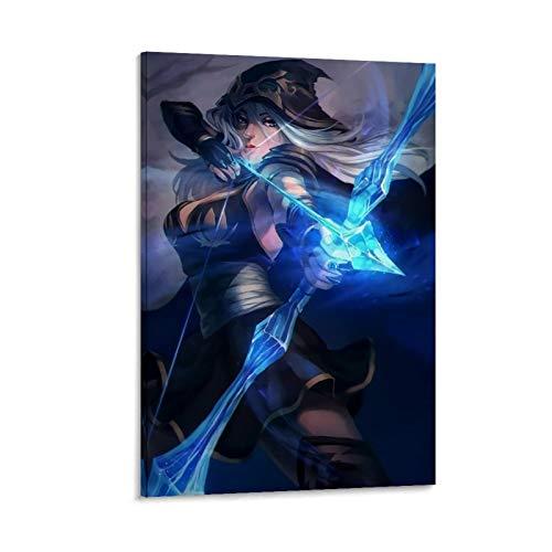 DRAGON VINES Riot Games League of Legends Frost Archer Ashe Archer - Póster artístico (50 x 75 cm)
