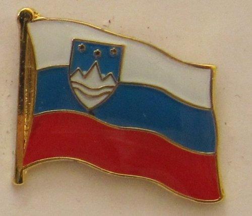 Buddel-Bini Versand Pin Anstecker Flagge Fahne Slowenien Nationalflagge Flaggenpin Badge Button Flaggen Clip Anstecknadel