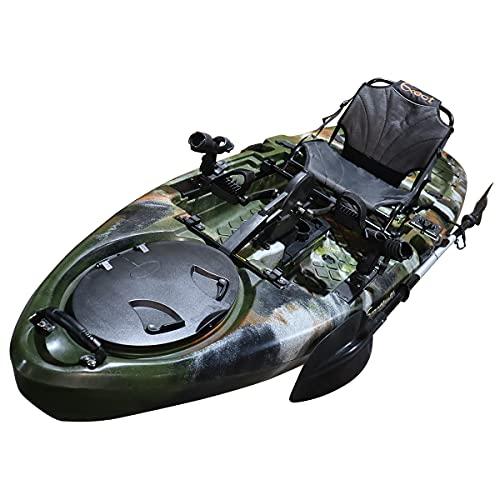 カヤック ペダルドライブ式セット 1人乗り EX3160 10ft フィッシングカヤック (緑迷彩)