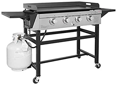 Royal Gourmet GB4001 4-Burner Propane Gas Grill Griddle Outdoor Flat Top, 36 inch, Black