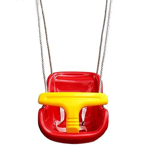 Baby kind kinderen tuin schommel stoel schommel met T bar in rood en geel klimmen frame bevestiging