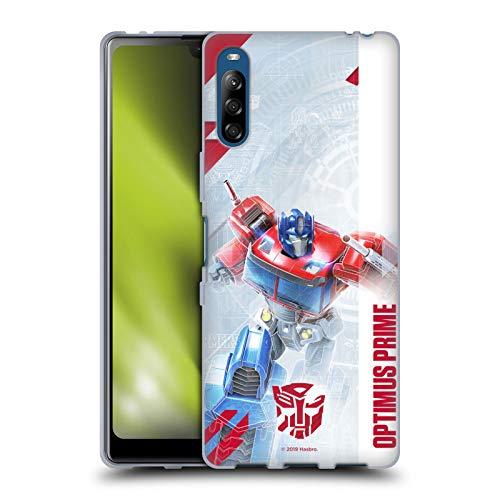 Head Case Designs Oficial Transformers Optimus Prime Arte Clave de Autobots Carcasa de Gel de Silicona Compatible con Sony Xperia L4