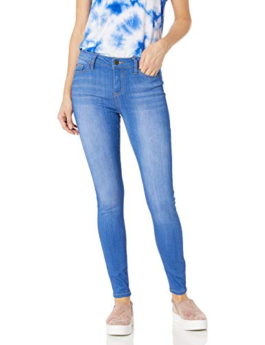 Celebrity Pink Jeans Women's Infinite Stretch Mid Rise Skinny Jean, Blue Lagoon Wash, 0